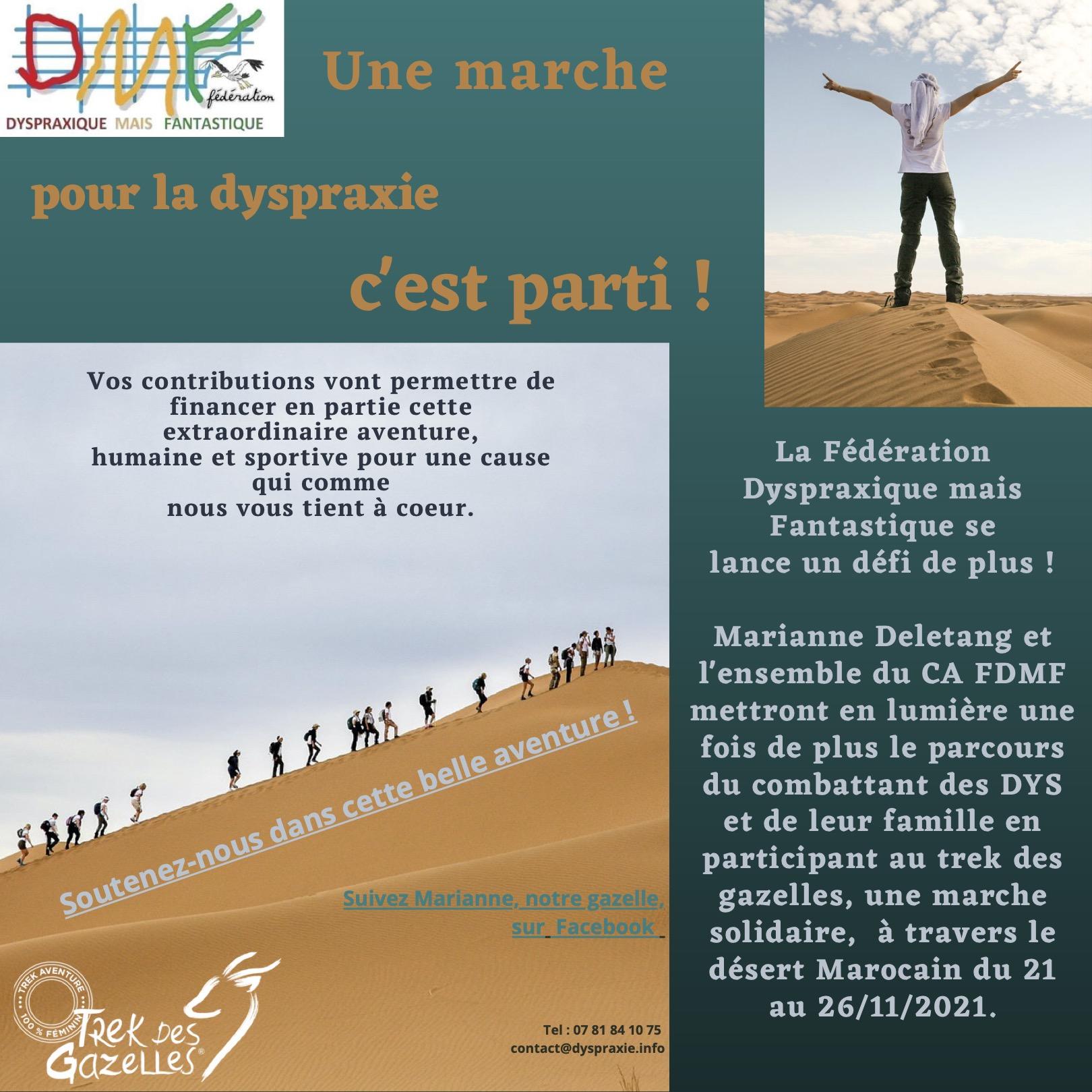 Affiche d'une marche pour la dyspraxie